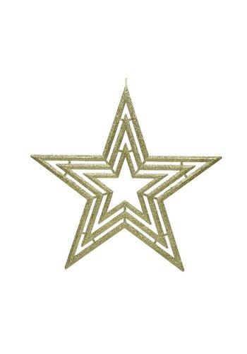 Decoris Ster plastic, 39cm, goud