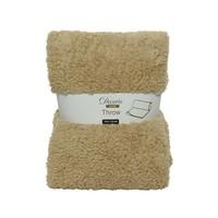 Plaid teddy 130x170cm beige