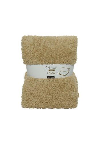 Decoris Plaid teddy 130x170cm beige