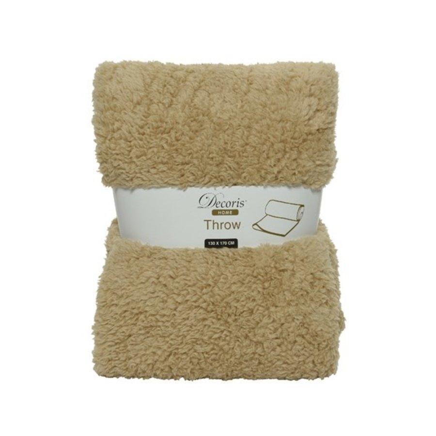 Plaid teddy 130x170cm beige-1
