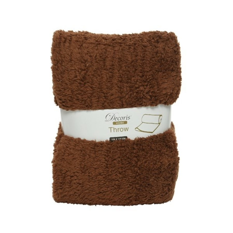 Plaid teddy 130x170cm bruin-1