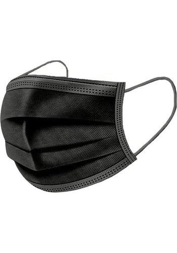 Mondmasker 3-laags, 50 stuks, zwart
