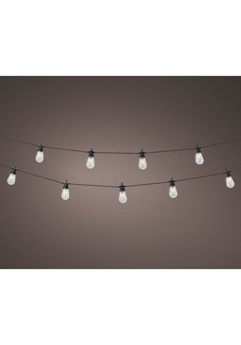 LED budget partylights, warm wit