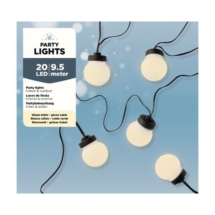 LED budget partylights, warm wit-2