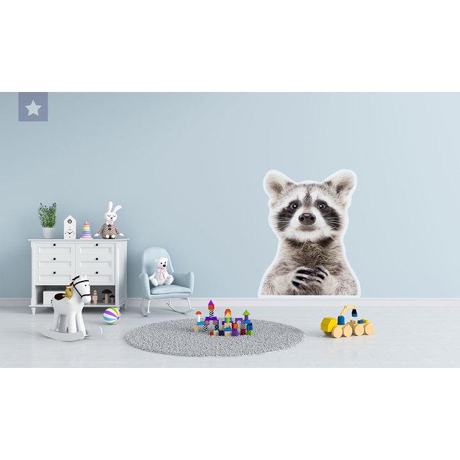 Wall sticker Bert the raccoon