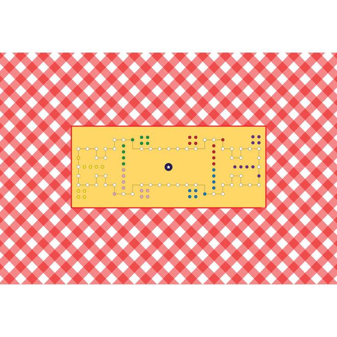 Spelkleed Dobbel, 220 x 150 cm, 6 personen, rechthoek rondom