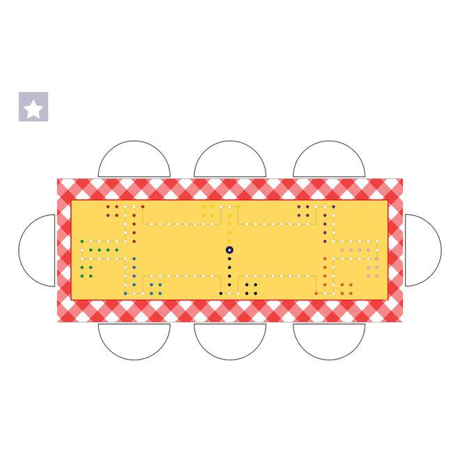 Spelkleed Dobbel, 300x160cm, 8 personen, rechthoek rondom