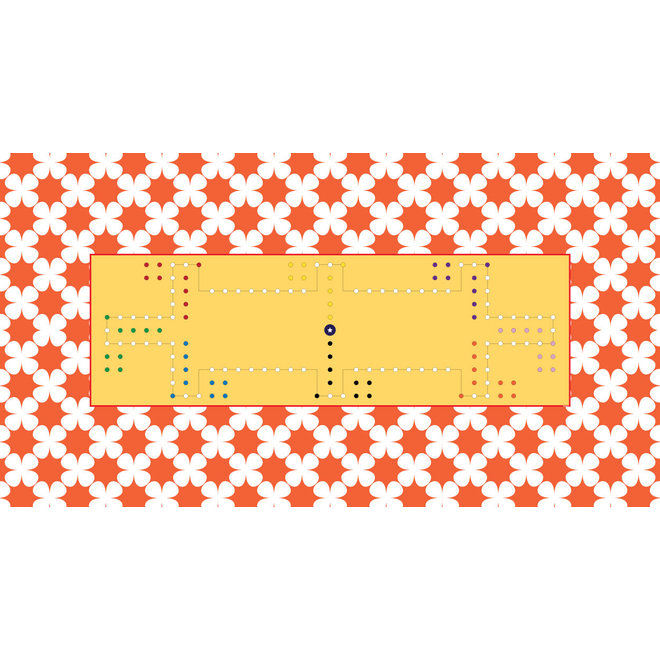 Game cloth Dice, 300x160cm, 8 personen,  rectangle all around