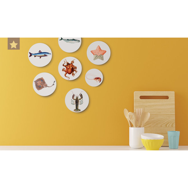 Mackerel | dibond wall plate 15x15cm
