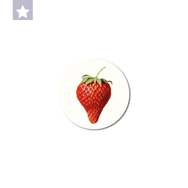 Strawberry | dibond wall plate 10x10cm