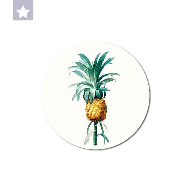 Pineapple   dibond wall plate 15x15cm