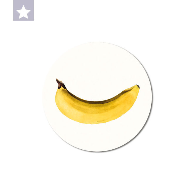 Banana | dibond wall plate 15x15cm