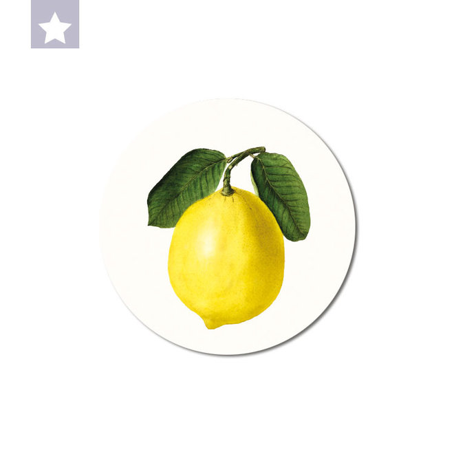 Lemon | dibond wall plate 15x15cm