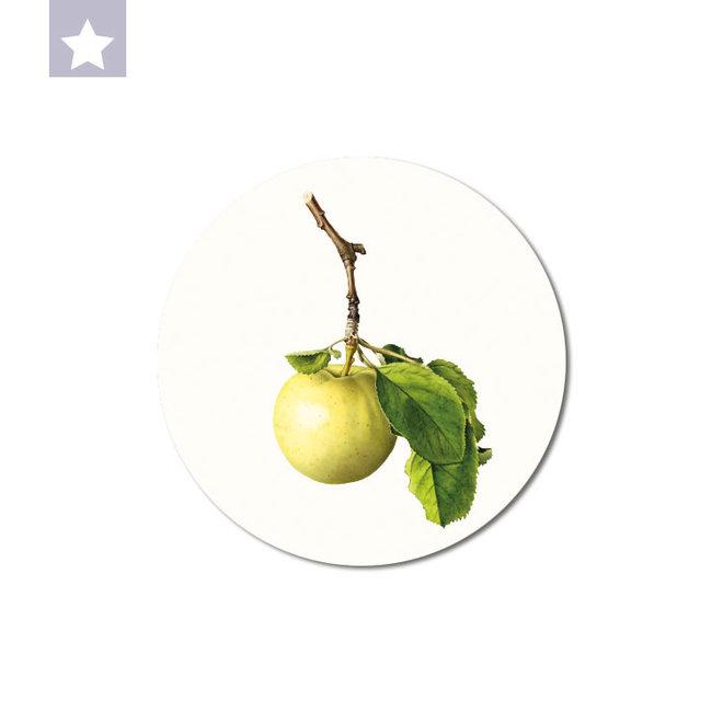 Groene appel | dibond muurbord 15x15cm