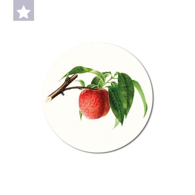Peach | dibond wall plate 15x15cm