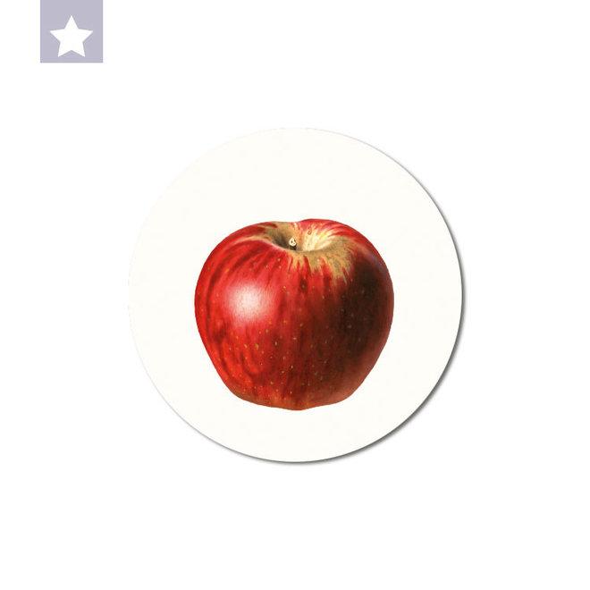 Red apple | dibond wall plate 15x15cm