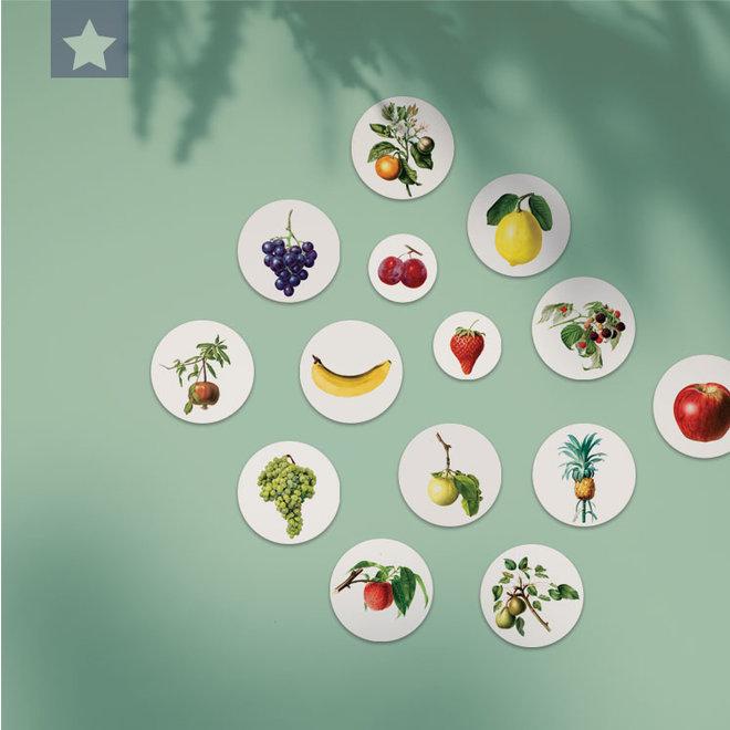 Green grape | dibond wall plate 15x15cm
