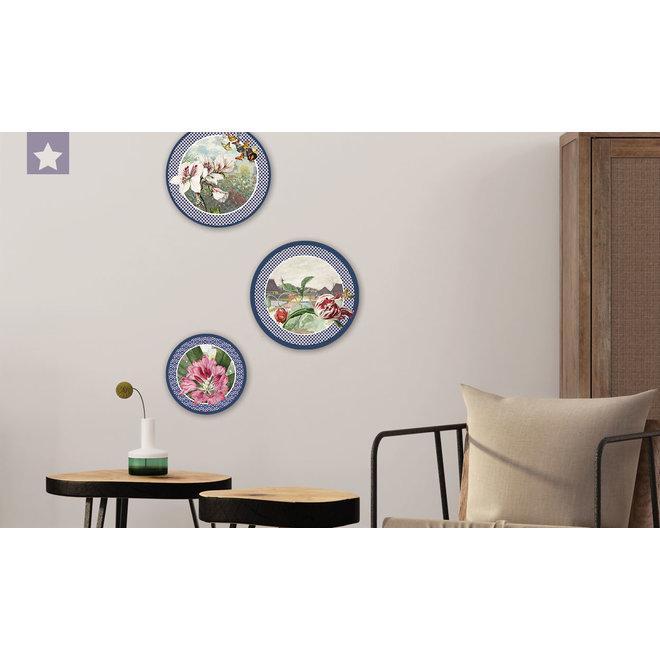 Wall circle Azalea with butterflies and garden of Monet