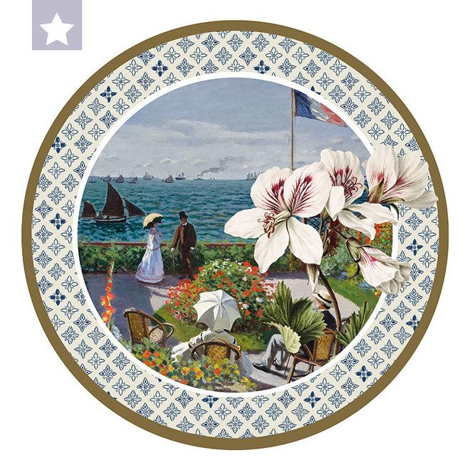 Cirkel Azalea met Tuin aan Zee van Claude Monet
