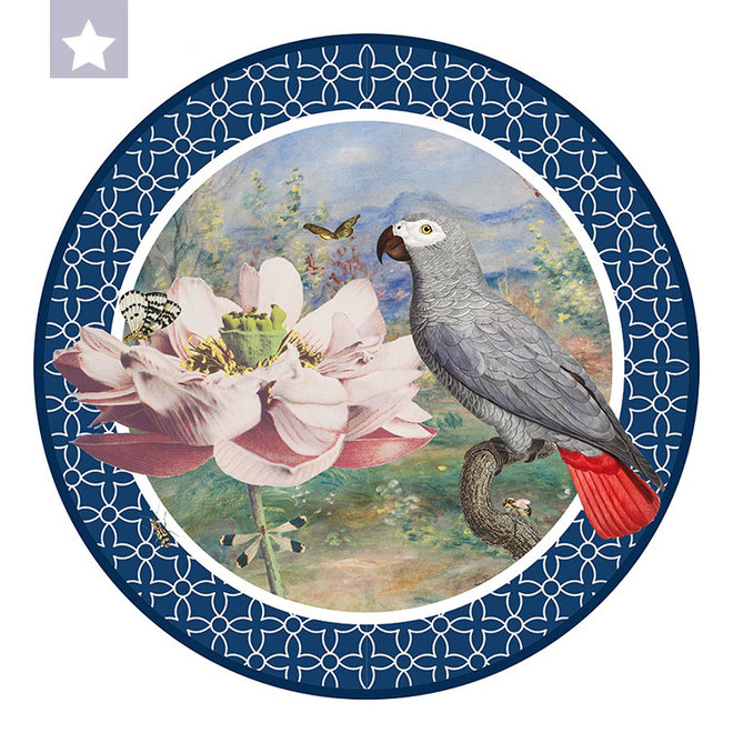 Circle  parrot with Ogawa, Renoir en Jan van Kessel