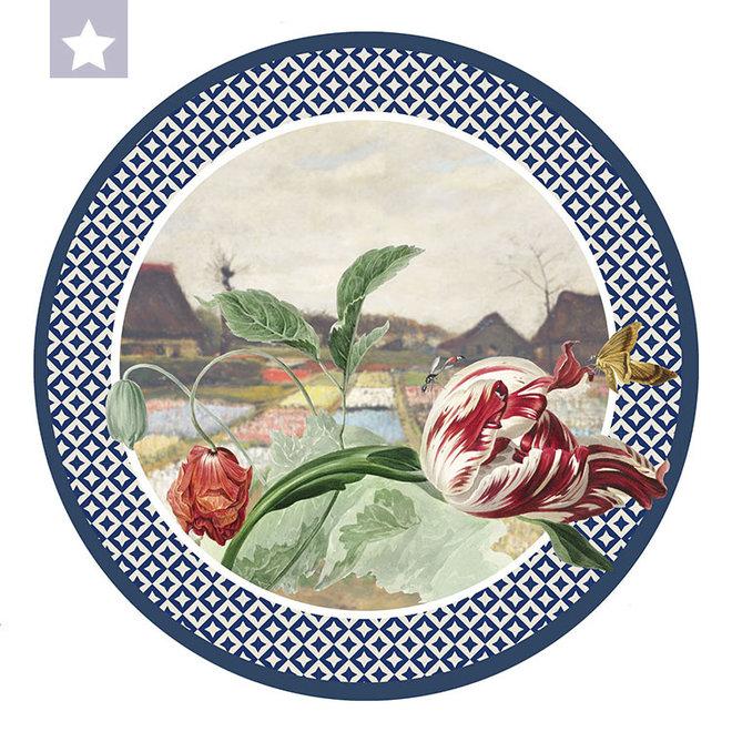 Muurcirkel Tulp met Van Gogh