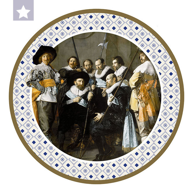 Muurcirkel De Magere Compagnie door  Frans Hals