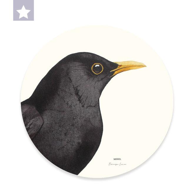 Wall circle Blackbird / Ø 30cm