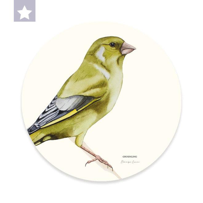 Wall circle Greenfinch / Ø 30cm