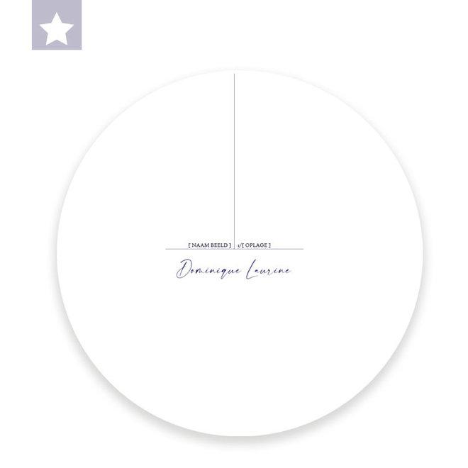 Muurcirkel Blauwe Reiger / Ø 30cm