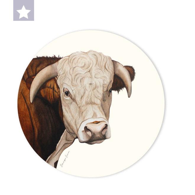 Wall circle Hereford bull