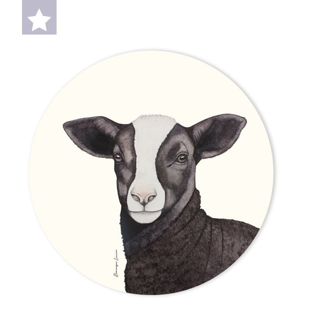 Wall circle Zwartbles lamb