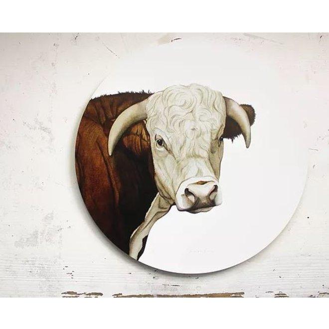 Wall circle Hereford pig / Ø 30cm
