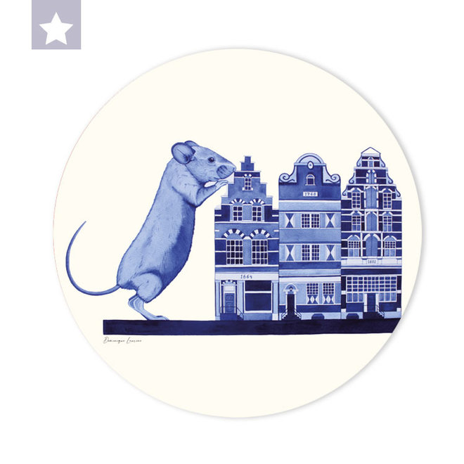 Wall circle House mouse with canal houses