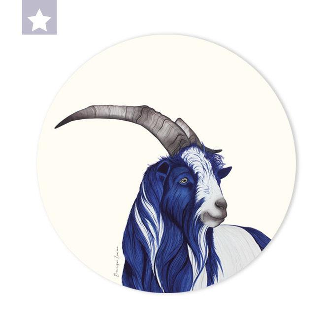 Wall circle Dutch land goat
