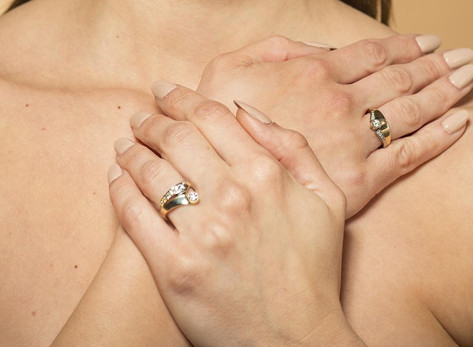 Geelgouden ring met diamanten - Trio-6