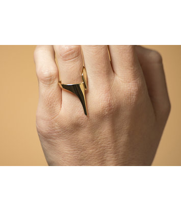 Gouden ring dames - Zwever - Lang - Geelgoud