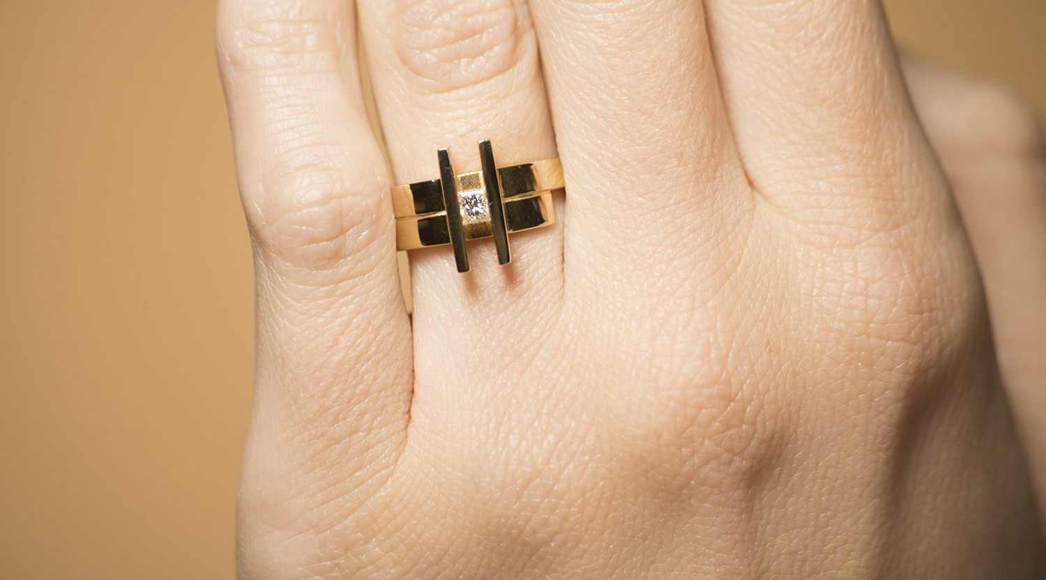 Geelgouden ring small- Princess-2
