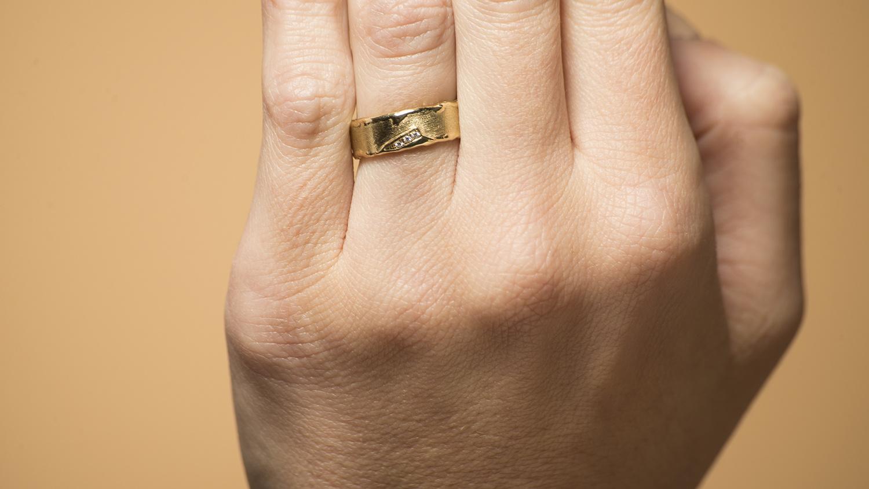 Geelgouden ring met diamanten - Grillo-2