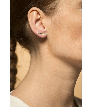 14 karaat geelgouden dames oorstekers - Archi