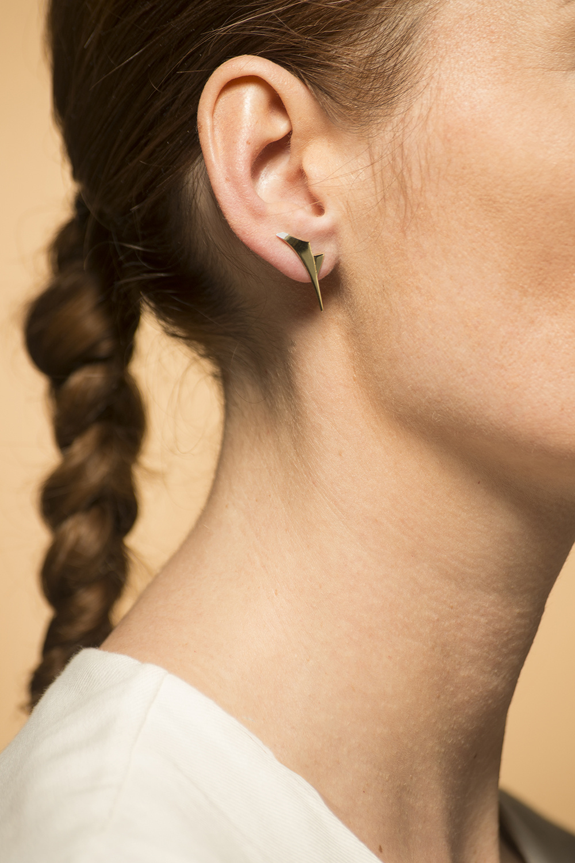 Gouden dames oorstekers - Archi-1