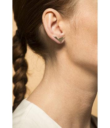 14 karaat geelgouden dames oorstekers - Archi  - Breed
