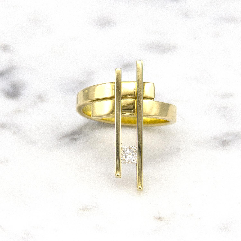 Geelgouden ring large - Princess-1
