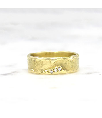 Geelgouden ring met diamanten - Grillo