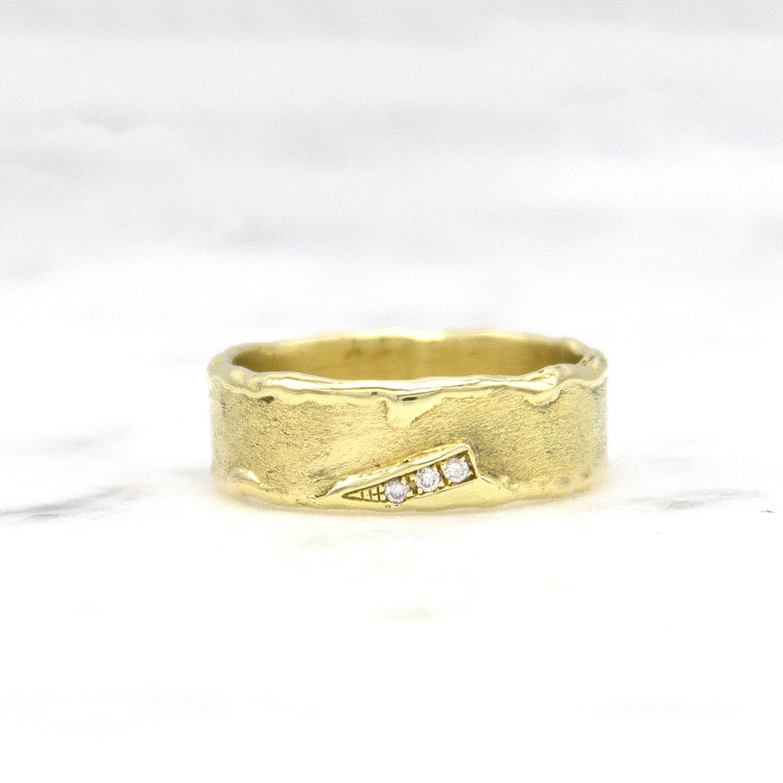 Geelgouden ring met diamanten - Grillo-1