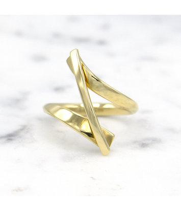 14 karaat geelgouden ring Swirll - Smedy