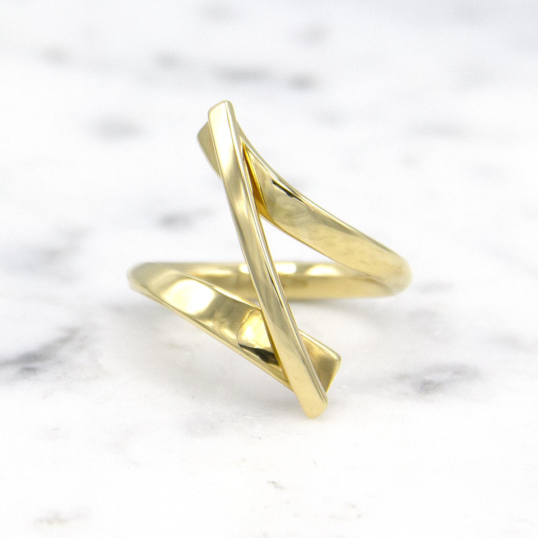 Geelgouden ring Swirll - Smedy-1