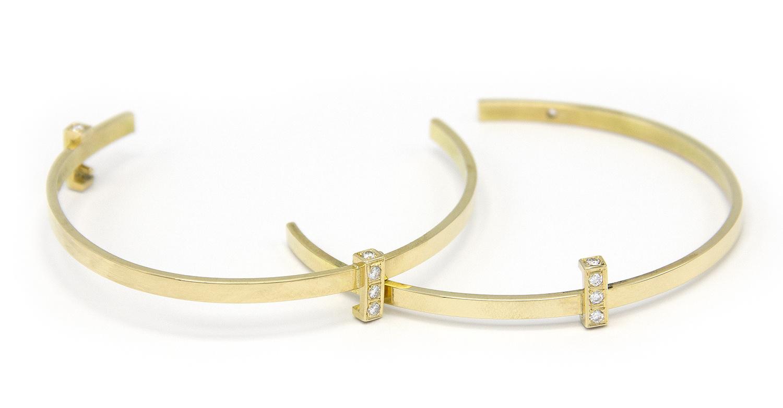 Geelgouden armband met diamanten - Mondria-3