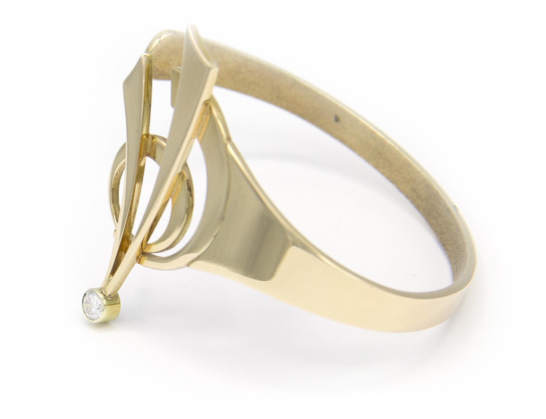 14 karaat geelgouden armband met diamant - Around-5