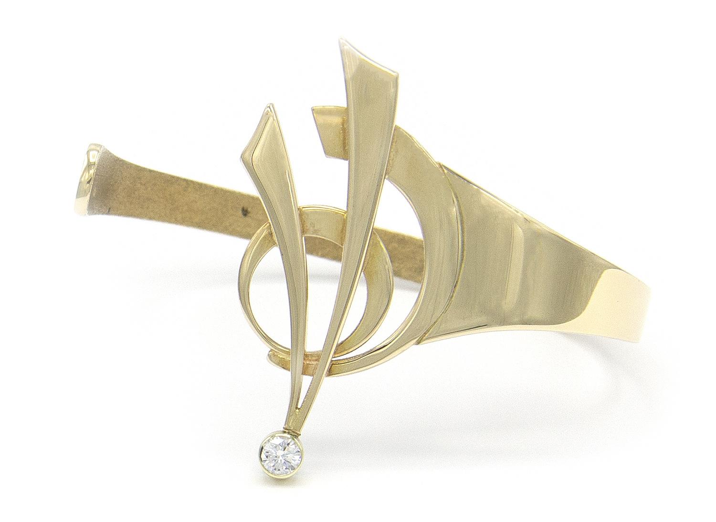 14 karaat geelgouden armband met diamant - Around-4