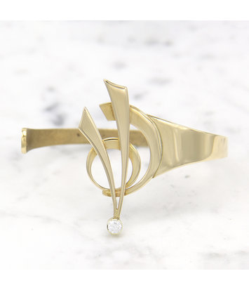 Geelgouden armband met diamant - Around